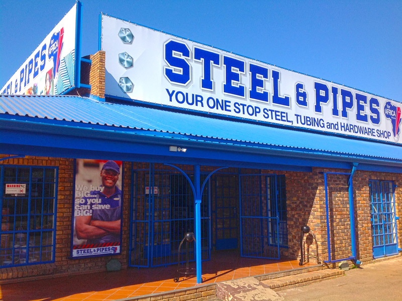 Steel and Pipes for Africa Centurion branch revamp