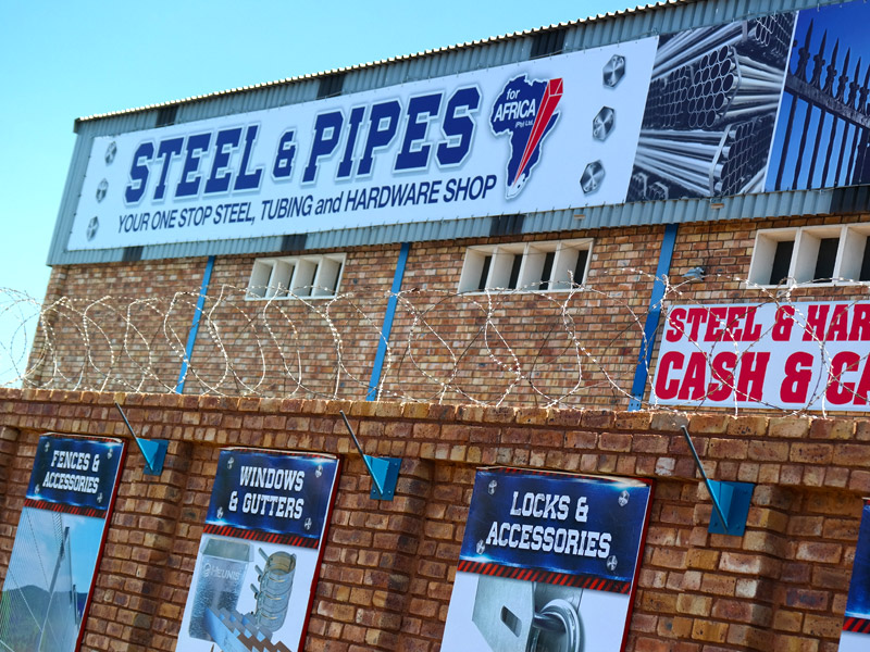 Steel and Pipes for Africa Pretoria West new signage